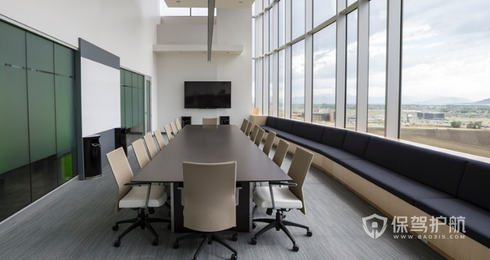 现代会议室桌椅装修效果图