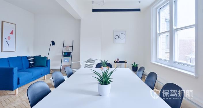 北欧风办公会议室桌椅装修效果图