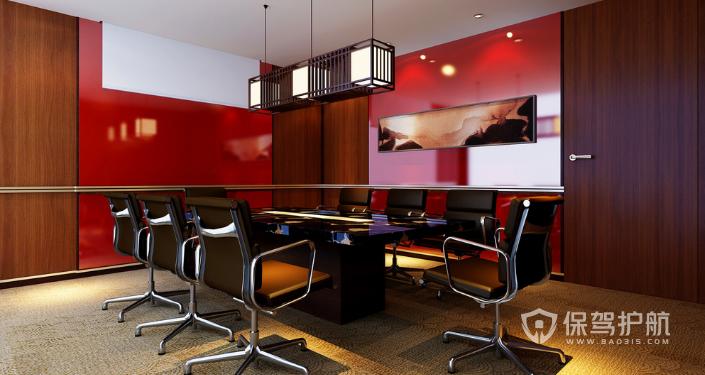 现代会议室室内装修效果图