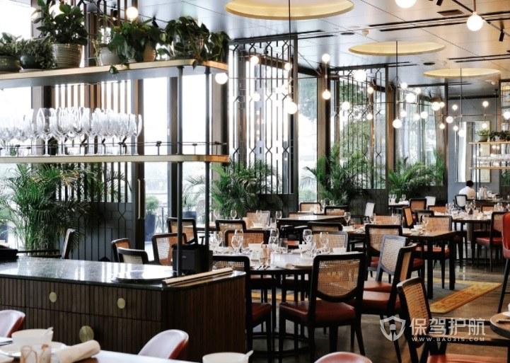 现代简约田园餐厅装修效果图