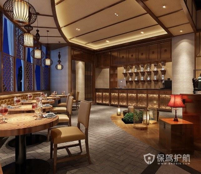 中式古典轻奢餐厅装修效果图
