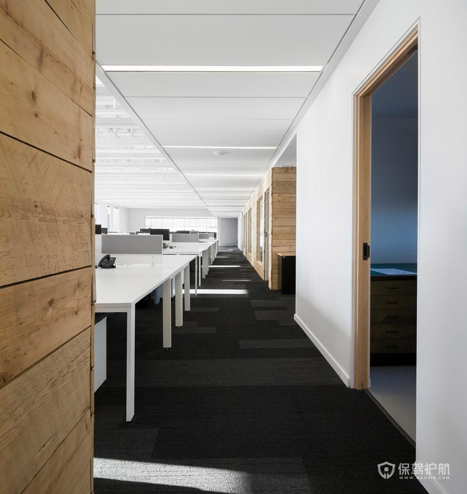 现代简约风格办公室办公区装修效果图