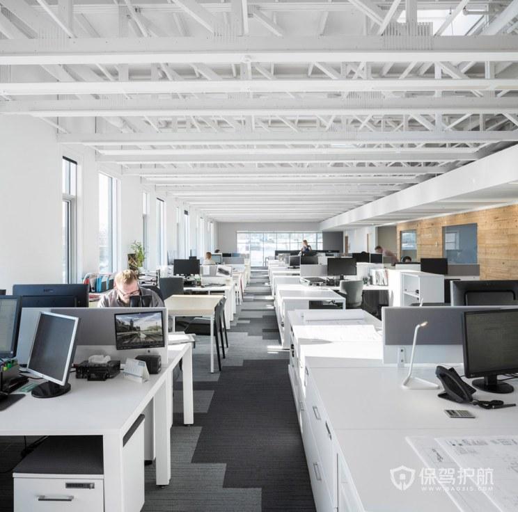复式办公室办公区装修效果图