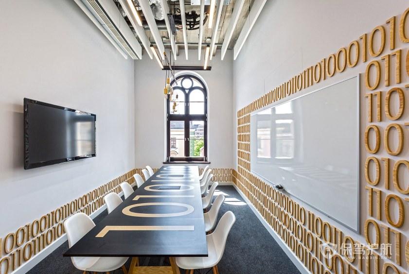 现代时尚风格办公会议室装修效果图
