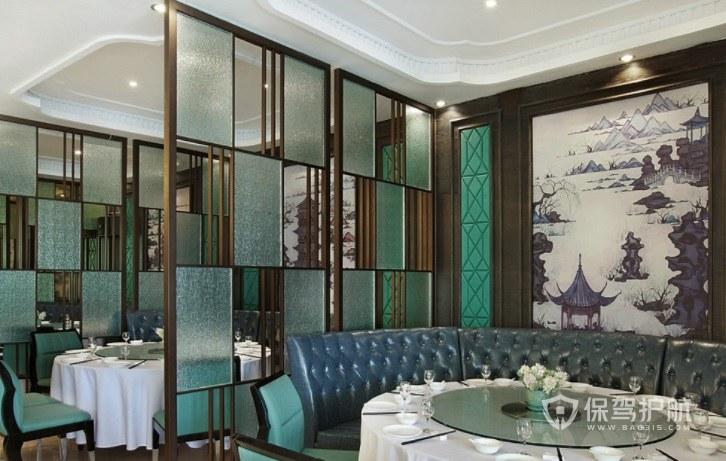 欧式创意复古餐厅装修效果图
