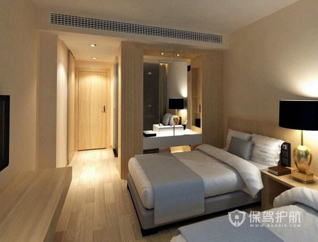 现代简约酒店双人房装修效果图