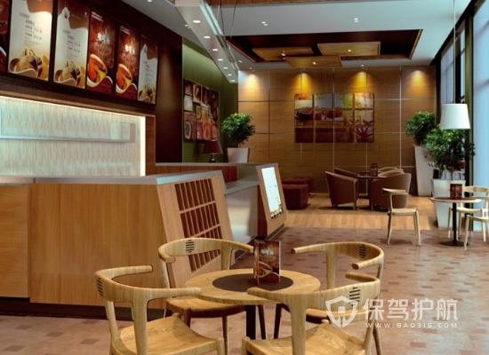简约风格咖啡厅收银台装修效果图
