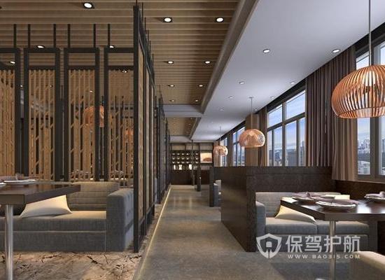 现代中式风格咖啡厅装修效果图