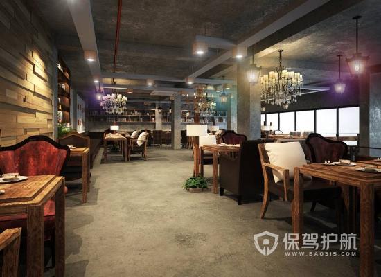 复古风格咖啡厅装修效果图