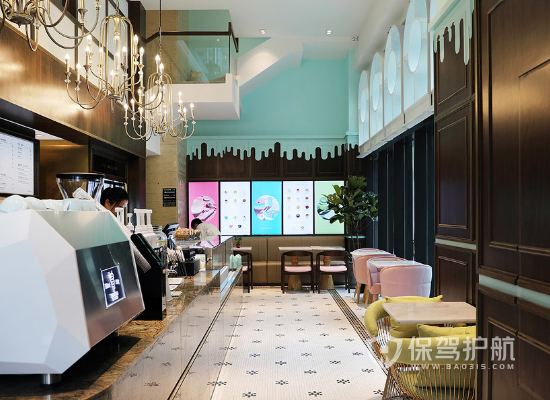 法式风格咖啡厅吧台装修效果图