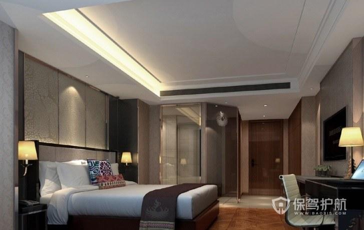 新中式酒店房间装修效果图