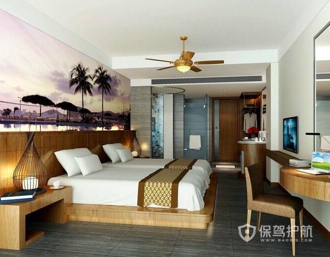 東南亞酒店房間裝修效果圖