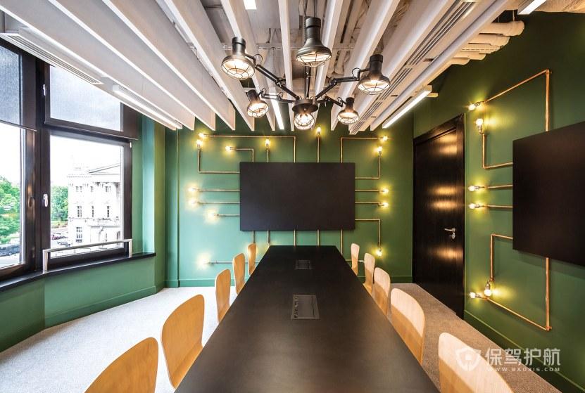 美式风格办公会议室装修效果图