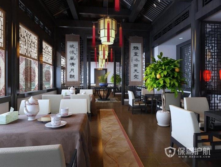 仿中式古风餐厅装修效果图