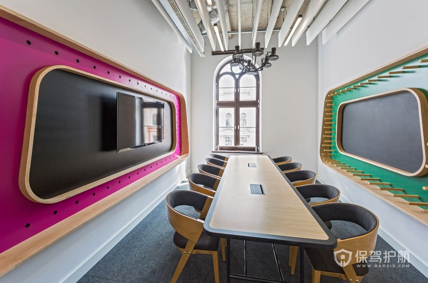 创意风格办公会议室装修效果图
