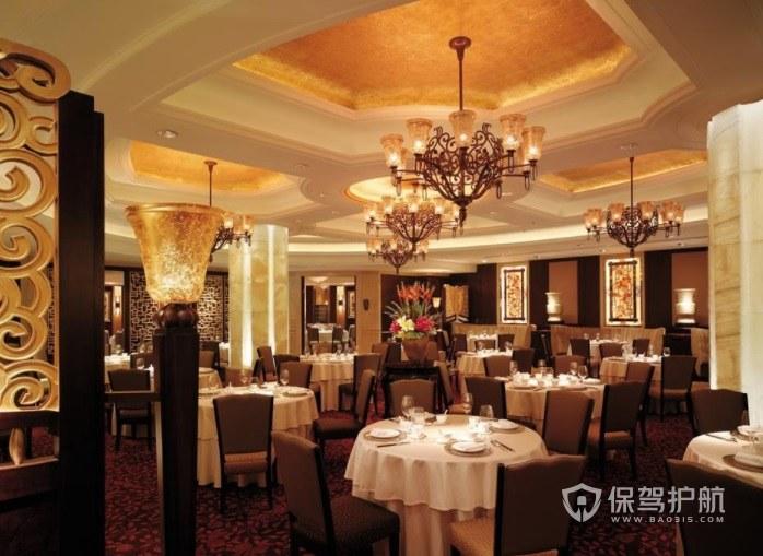 歐式復古餐廳裝修效果圖