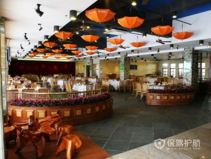 東南亞鄉村風餐廳裝修效果圖