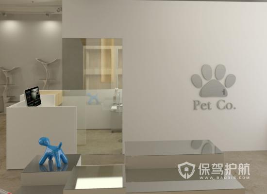 简约风格宠物店墙面装修效果图