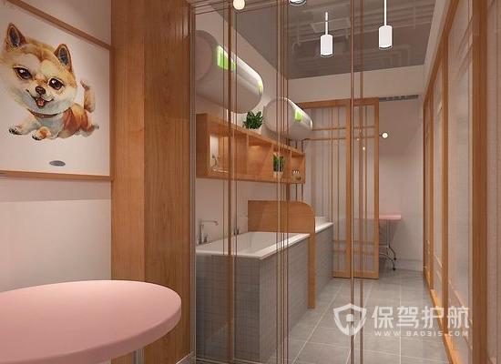 日式简约宠物店美容区装修效果图
