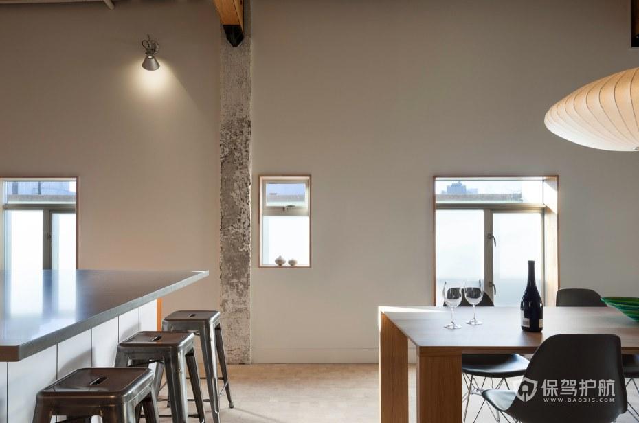 复古工业风办公室茶水区装修效果图
