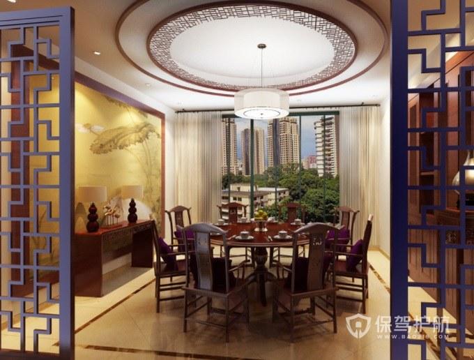 明清风中式餐厅包厢装修效果图