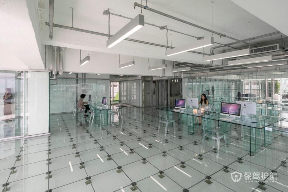 新时尚办公室办公区装修效果图
