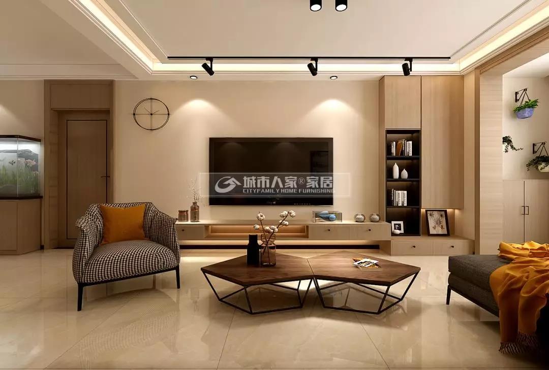 中海天悦府128平米现代简约风格,温润阳光暖宅!