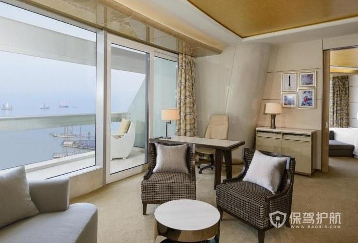 日式简约酒店房间装修效果图