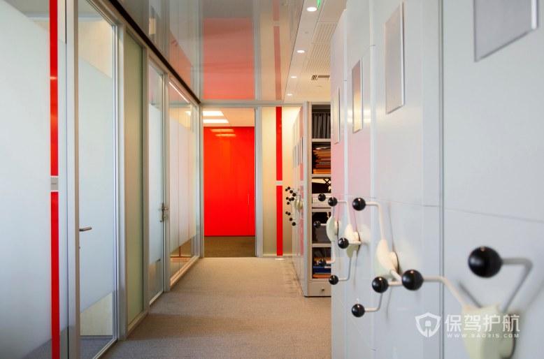 现代简约风格办公室隔断装修效果图