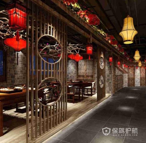 中式仿古创意餐厅装修效果图