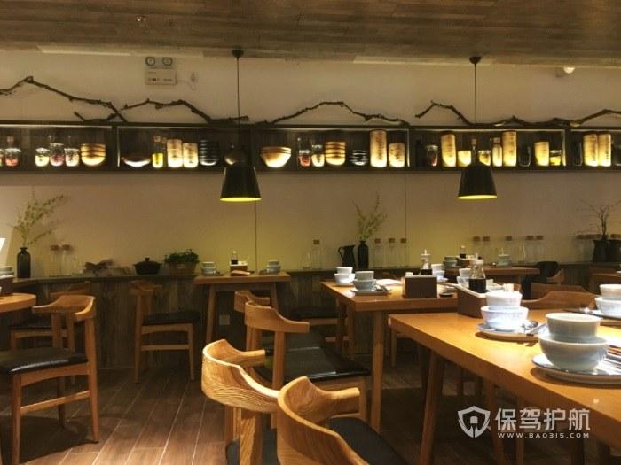 日式休闲风餐厅装修效果图