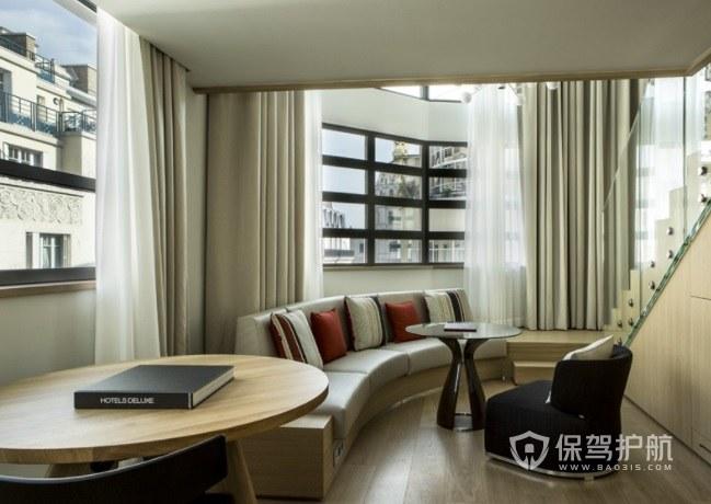 现代简约酒店复式楼装修效果图