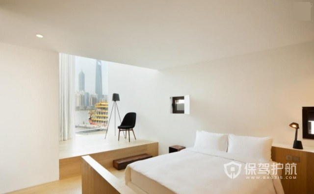日式简约酒店卧室装修效果图