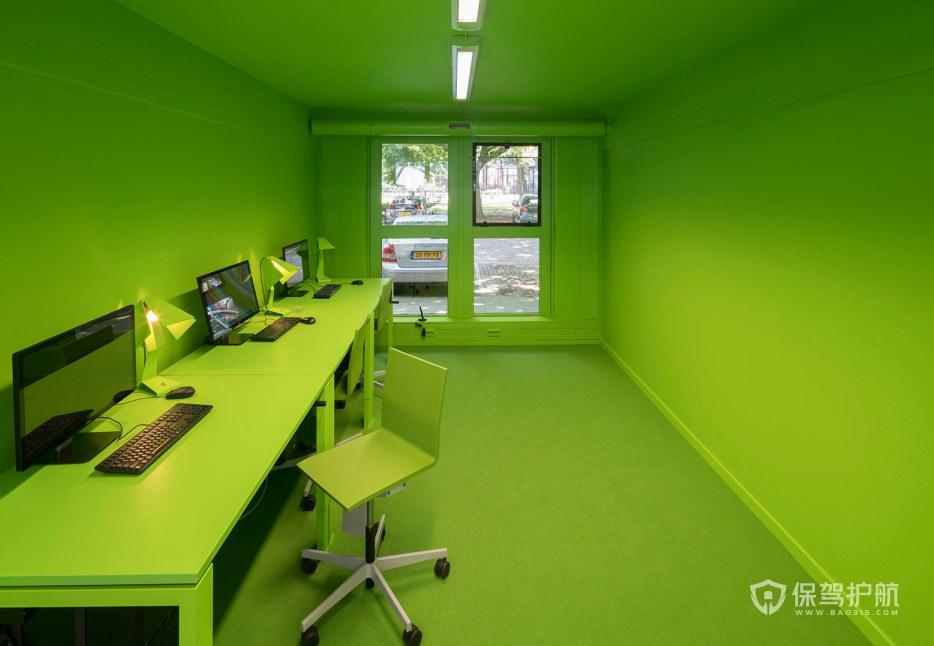 健康绿色办公室办公区装修效果图