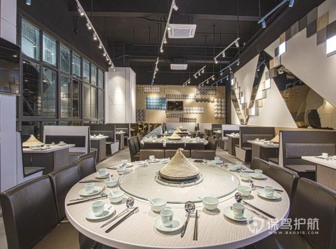 美式简约餐厅装修效果图