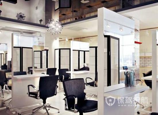 现代风格美发店工作区装修效果图