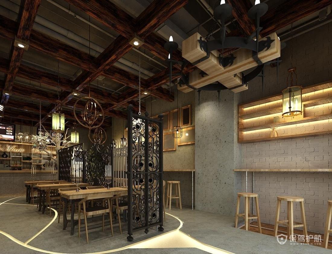 80平特色西式小餐馆装修效果图-保驾护航装修网