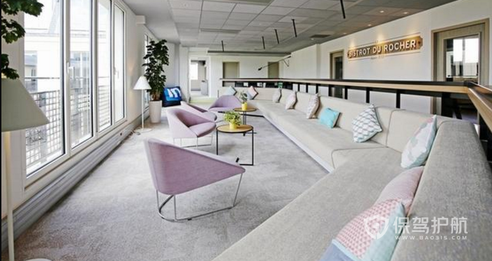 大型办公室休息区装修效果图