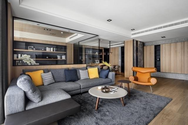 现代简约风格大平层四居室装修效果图
