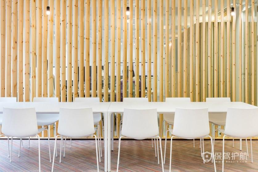 日式风格开放式会议区装修效果图