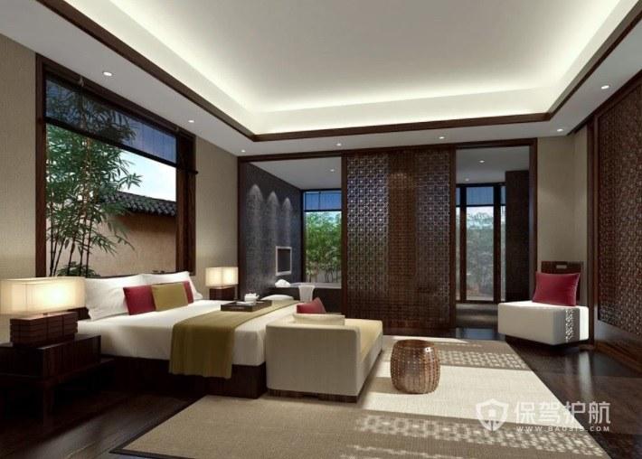 中式古典酒店卧室装修效果图
