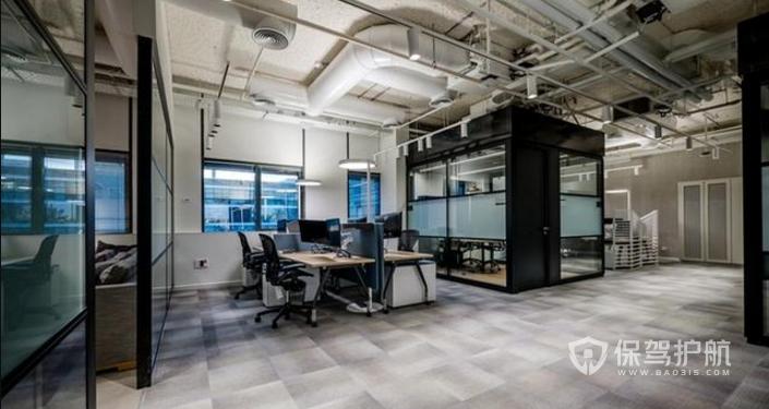 现代工业风格办公室装修效果图