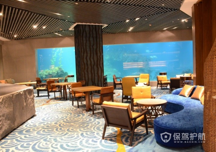 豪華創意地中海餐廳裝修效果圖