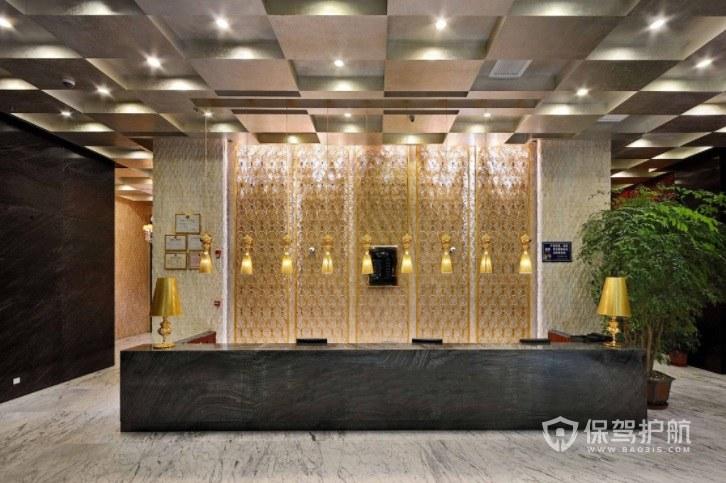 现代简欧酒店前台装修效果图