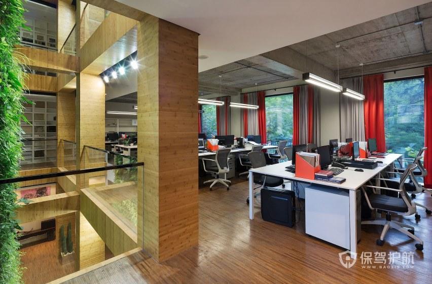 现代简约风格办公室办公区装修效果图…