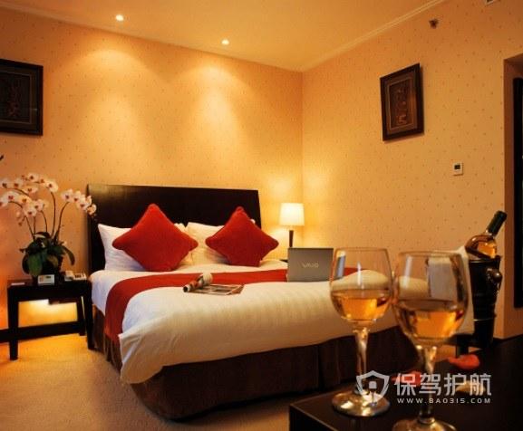 日式温馨酒店房间装修效果图
