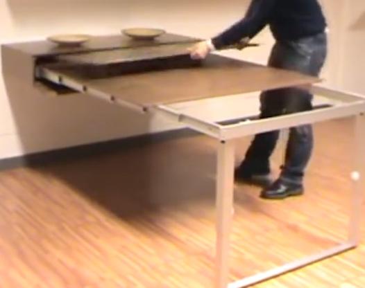 伸缩桌子怎么拉开视频