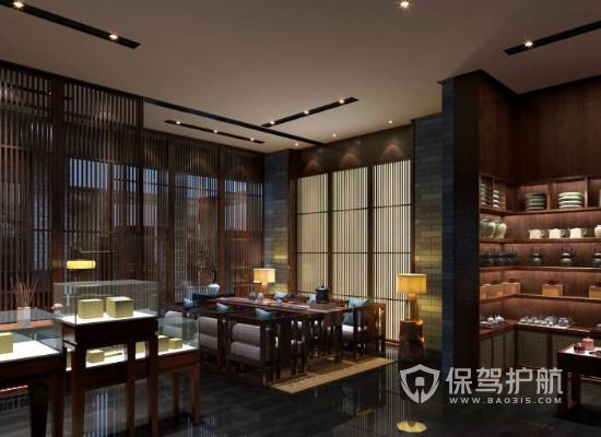 中式风格展厅灯光设计效果图