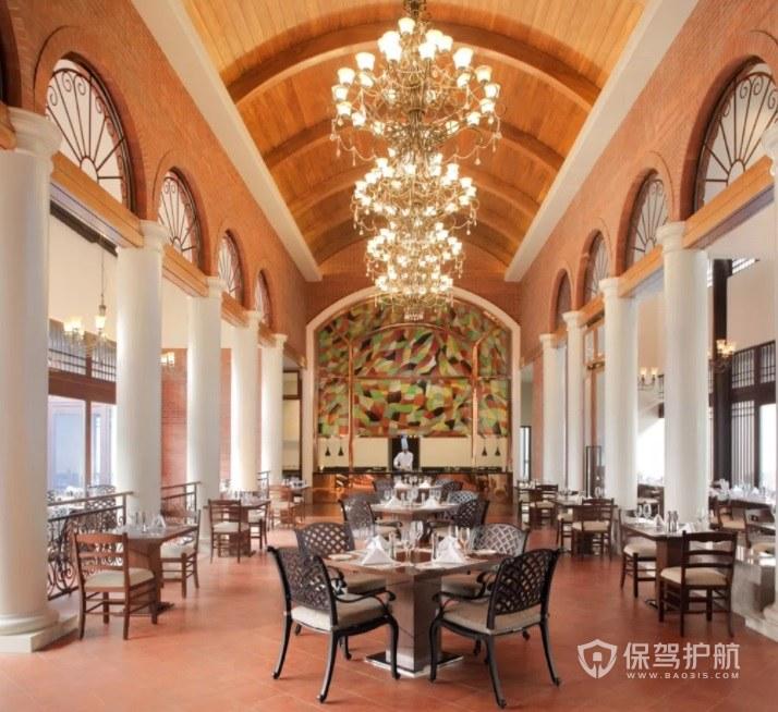 巴洛克复古餐厅装修效果图