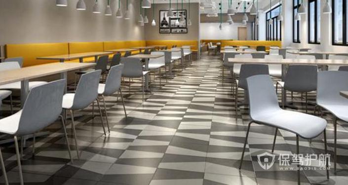 办公室大型用餐区装修效果图